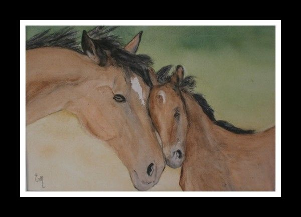 TENDRE CALIN - Aquarelle